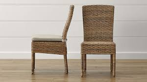 tigris dining chair and natural cushion crate and barrel