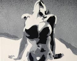 1 digital download punk canvas painting stencil art spray