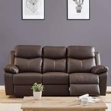 canap cuir relax electrique 3 places canapé relax électrique 3 places cuir brun esther univers du salon
