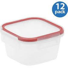 snapware airtight plastic 1 3 cup square food storage container