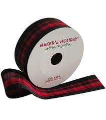 and black plaid ribbon black plaid ribbon by maker s 1 5 x 30 joann