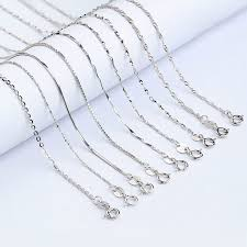 sterling silver necklace styles images Buy hot sale 4 styles 925 sterling silver chains jpg