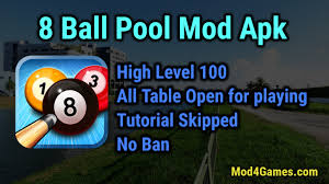 8 pool apk mania 8 pool mod apk high level 100 all table open for