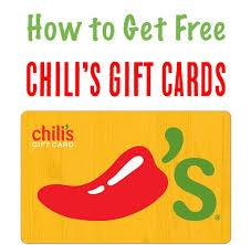 chili gift card free chili s gift card my favorite tip the frugal