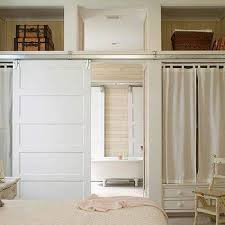 Bedroom Barn Door Cottage Bathroom With Rustic Barn Door On Rails Cottage Bedroom
