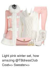 light pink sweater set light pink winter set how amazing coat sweater meme on me me