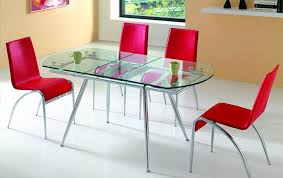 Glass Dining Room Tables Home Design Ideas And Pictures - Glass dining room table with extension