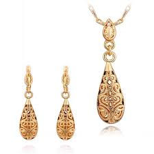 design of earrings gold 2018 2014 new design 18k gold plated necklace amp earrings