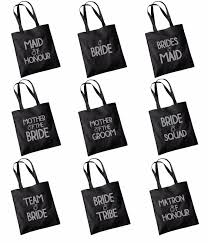 bridal party gift bags glitter print wedding party bridal tote bag bridesmaid favour hen