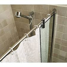over bath shower curtain rail long curtain rails curtains center