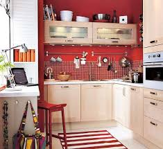 Kitchen Ideas Contemporary Small Kitchen Design Ideas With Red