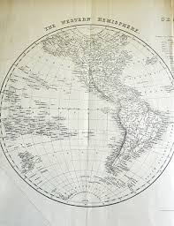 Eastern Hemisphere Map Antique Map