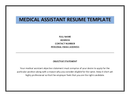 Examples Of Medical Assistant Resume by Medical Assistant Sample Resume Medical Assistant Resume Objective