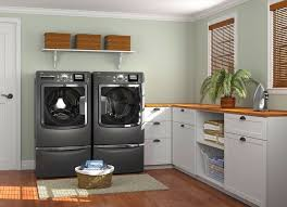 Laundry Room Base Cabinets Decorating Modern Laundry Room Decor With White Base Cabinet And