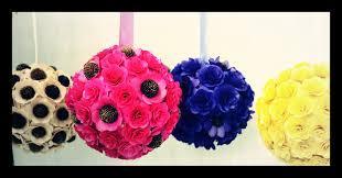 Flower Ball Wedding Pomander Flower Ball Wedding Pomanders Hanging And
