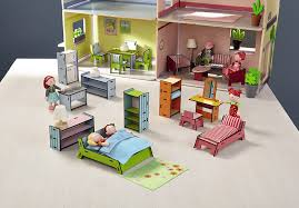 Dollhouse Dining Room Furniture by Amazon Com Haba Little Friends Deluxe Dollhouse Furniture Set