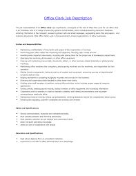 resume for office clerk position sidemcicek com