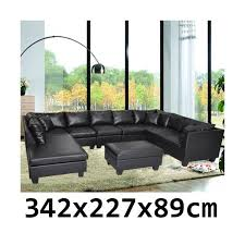 Corner Lounge Suite With Chaise New Pu Leather Corner Sofa Suite Lounge Couch Furniture Chaise Set