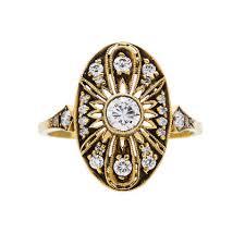 gold vintage engagement rings vintage engagement rings shop trumpet horn