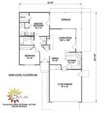 ranch style house plan 2 beds 2 00 baths 970 sq ft plan 116 151