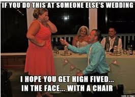 Meme Wedding Proposal - wedding guest proposing in front of newlyweds has the internet