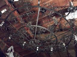 Vintage Wrought Iron Chandeliers Vintage Country Wrought Iron Chandelier At 1stdibs Parts Table