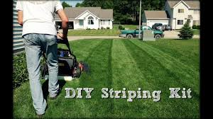 lawn striping diy striping kit build and demonstration youtube