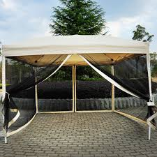 12x12 Patio Gazebo by Outdoor Gazebo Canopy 10 U0027 X 10 U0027 Pop Up Tent Mesh Screen Patio