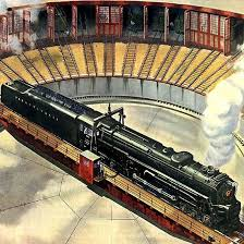 trains for train table detail of pennsylvania railroad something new on table mad men art