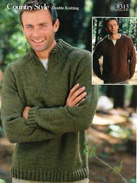 mens zip neck sweaters knitting pattern pdf dk mans jumpers 38 48