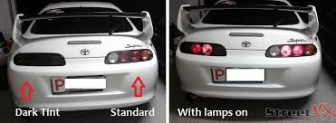 tail light tint installation streetfx motorsport and graphics dark lamin x charcoal smoked
