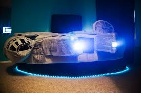 Bed Shaped Like The Millennium Falcon From Star Wars  Home Gallery - Star wars bunk bed