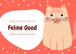 punny valentines day cards cat pun valentines day card templates by canva