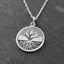 silver sterling pendant necklace images Tree of life with roots necklace in sterling silver jpg