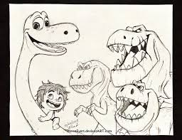 the good dinosaur sketch by ravenevert on deviantart