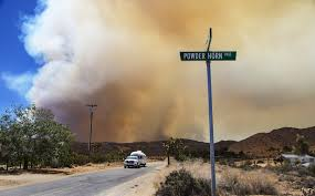 Wildfire Near Markleeville Ca by Massive Cloud Of Smoke From Lake Fire Is Blanketing Parts Of
