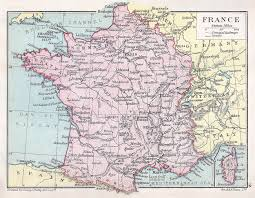 A Map Of France by France Map And Statistical Information 1914 Philatelic Database