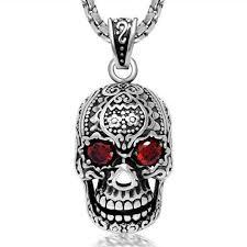skull pendant necklace images Vintage rhinestone skull pendant necklace skull obsessed jpg
