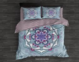 asymmetric mandala duvet cover hippie bedding set bohemian