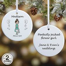 personalized ornaments wedding personalized wedding party ornaments