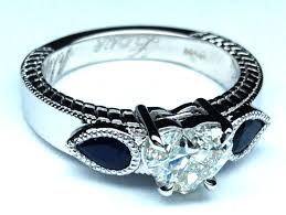 benitoite engagement ring pear engagement rings from mdc diamonds nyc