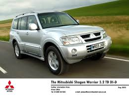 mitsubishi cars 2003 shogun warrior lwb front moving jpg
