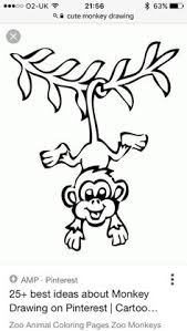 silly monkey free printable coloring pages joy