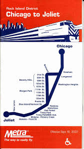Map To Chicago by Metra