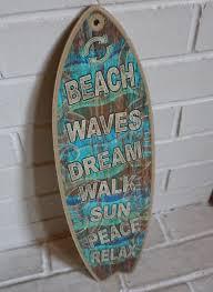 beach waves dream sun peace relax rustic surfboard sign surfer beach waves dream sun peace relax rustic surfboard sign surfer home decor new 9 89