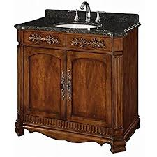 what color goes with brown bathroom cabinets davidson woodcrafters lw093s03 36 inch walnut traditional vanity with green black marble top single china bowl 2 doors antique brass
