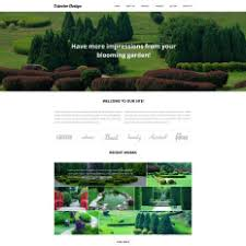 garden design website templates