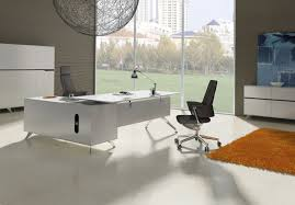 furniture white manager office desk with l shape nila homes
