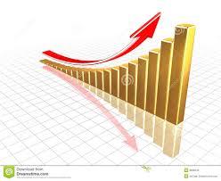 growing chart growing gold chart stock illustration illustration of shiny