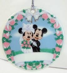 mickey and minnie wedding disney mickey groom minnie wedding christmas disc ornament new